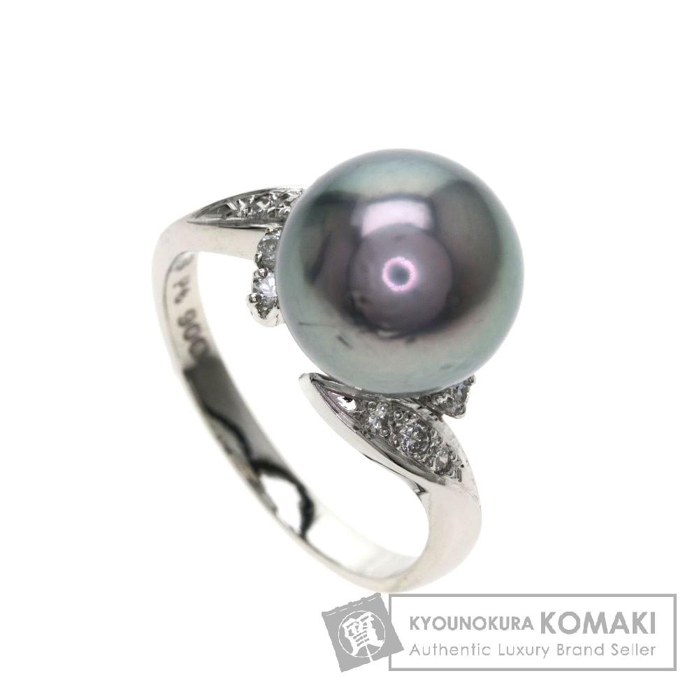 MIKIMOTO パール/真珠/ダイヤモンド リング・指輪 プラチナPT900 レディース 【中古】【ミキモト】