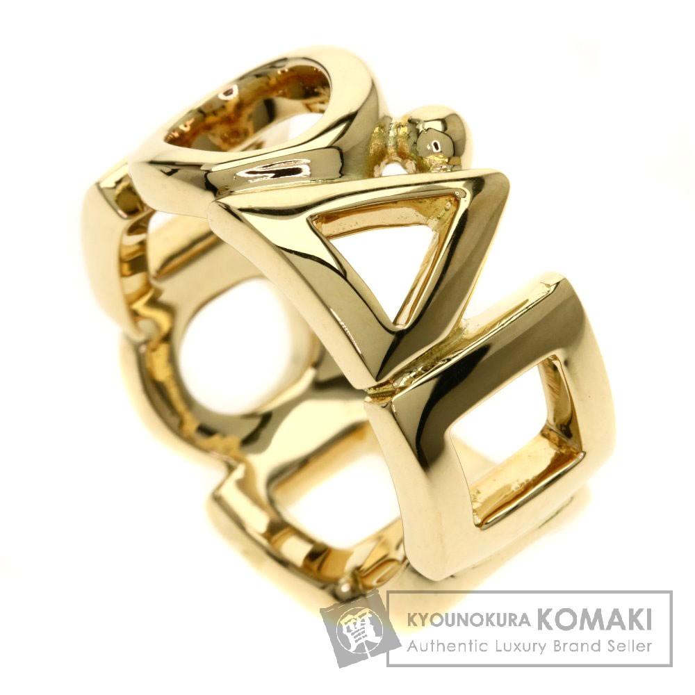 CHANEL 幾何学図形 丸 三角 四角 リング・指輪 K18イエローゴールド レディース 【中古】【シャネル】