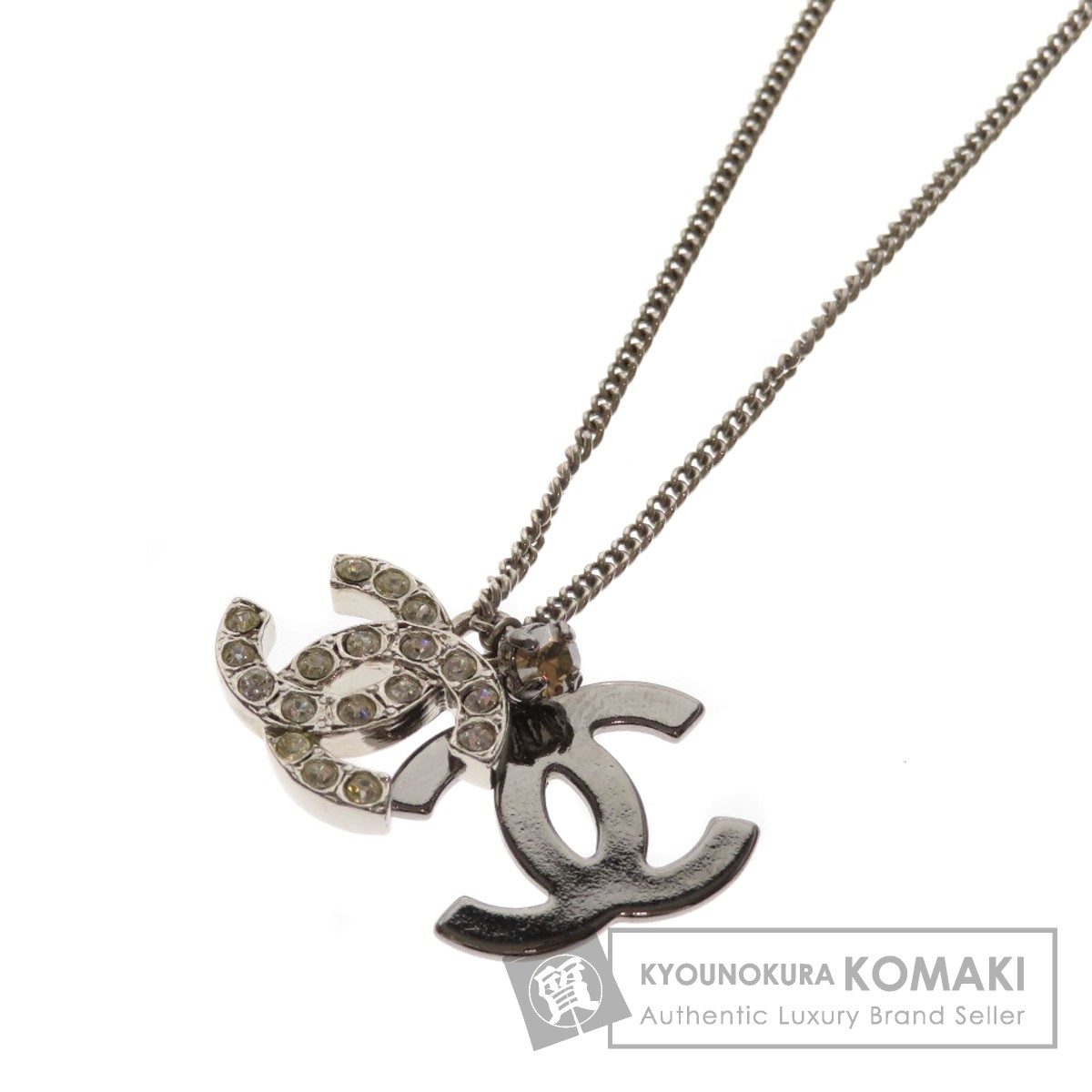 CHANEL ココマーク ラインストーン ネックレス 金属製 レディース 【中古】【シャネル】