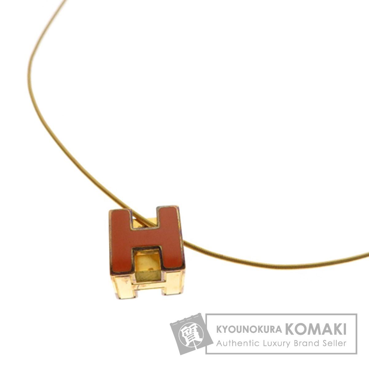 HERMES Hキューブ ネックレス 金属製 レディース 【中古】【エルメス】