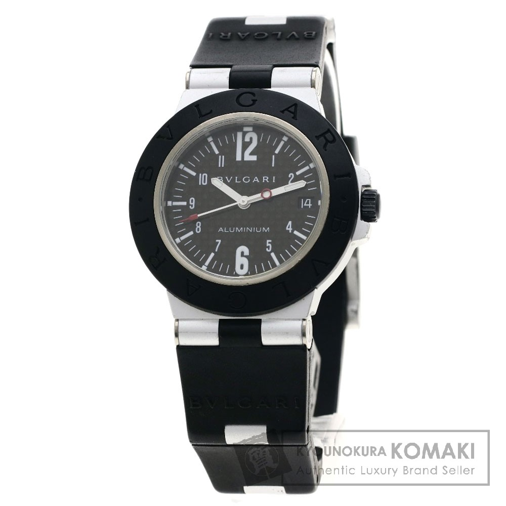 BVLGARI AL38BTAVD アルミニウム 腕時計 OH済 アルミニウム/ラバー メンズ 【中古】【ブルガリ】