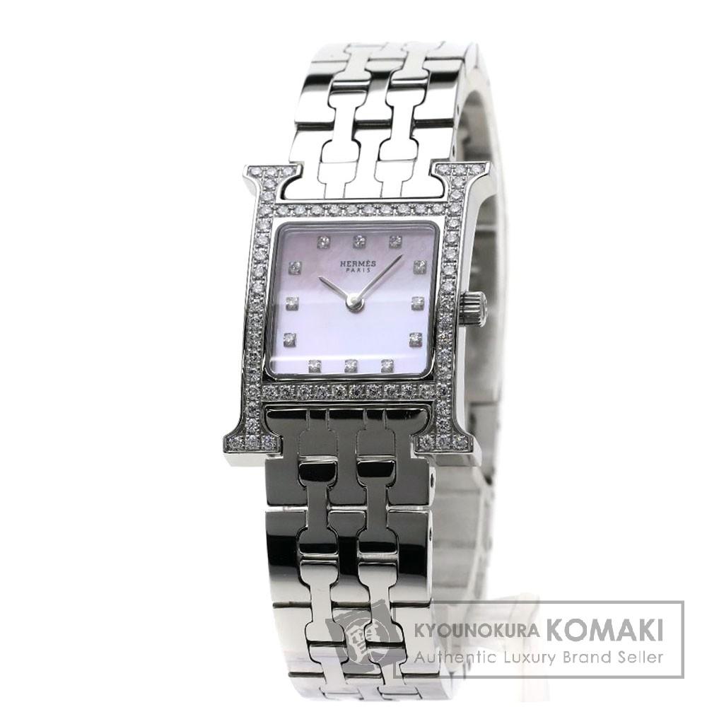 HERMES HH1.230 Hウォッチ 腕時計 ステンレススチール/SS/ダイヤモンド レディース 【中古】【エルメス】