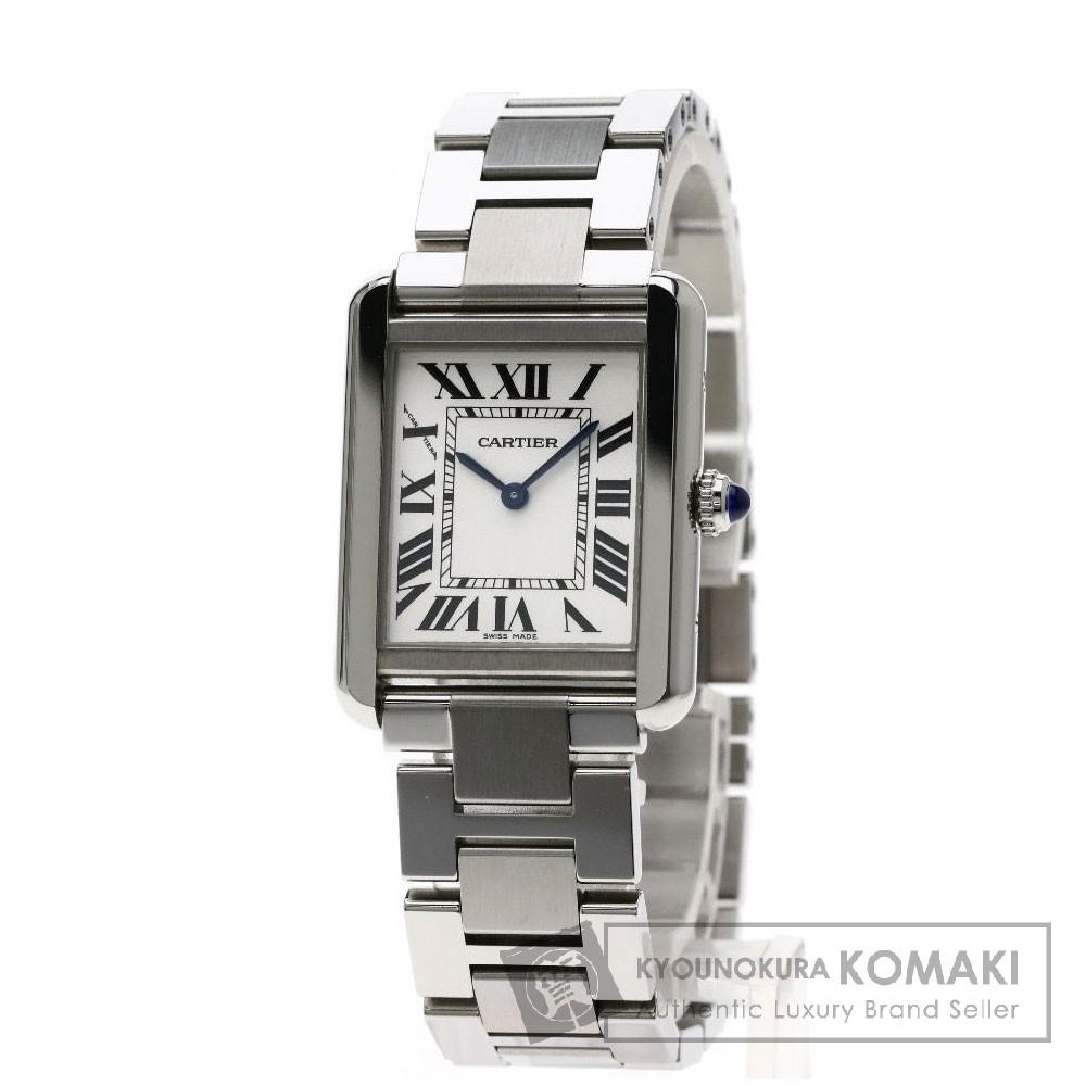 CARTIER W5200013 タンクソロSM 腕時計 ステンレススチール/SS レディース 【中古】【カルティエ】