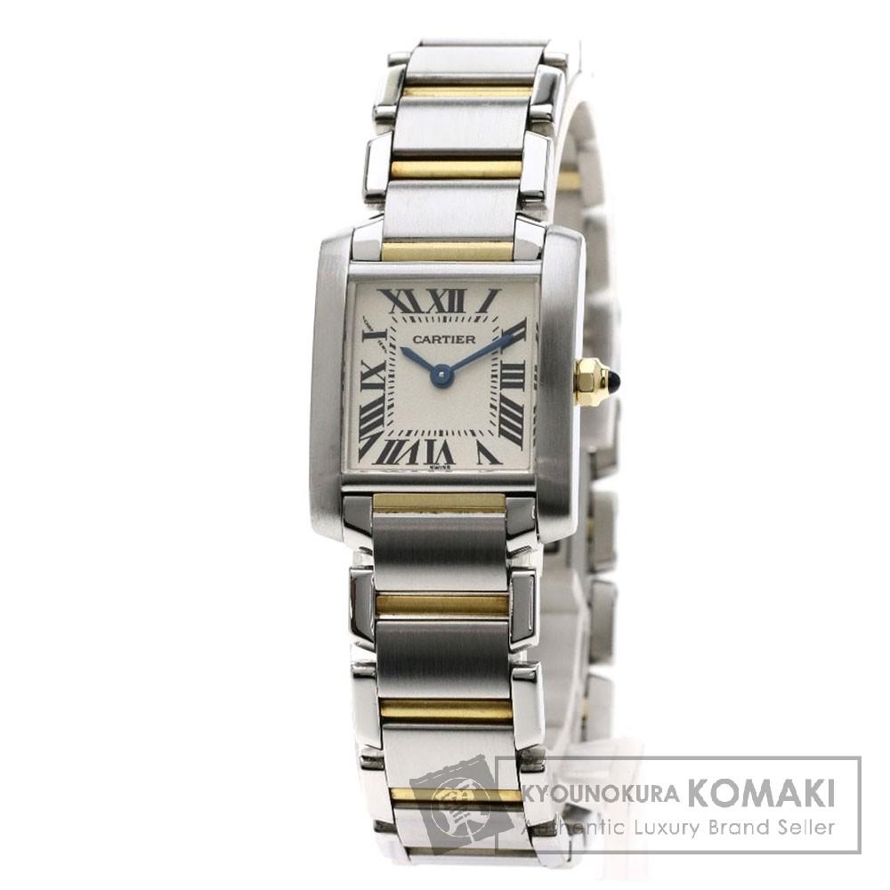 CARTIER W51007Q4 タンクフランセーズ SM コンビ 腕時計 ステンレススチール/SSxK18YG レディース 【中古】【カルティエ】