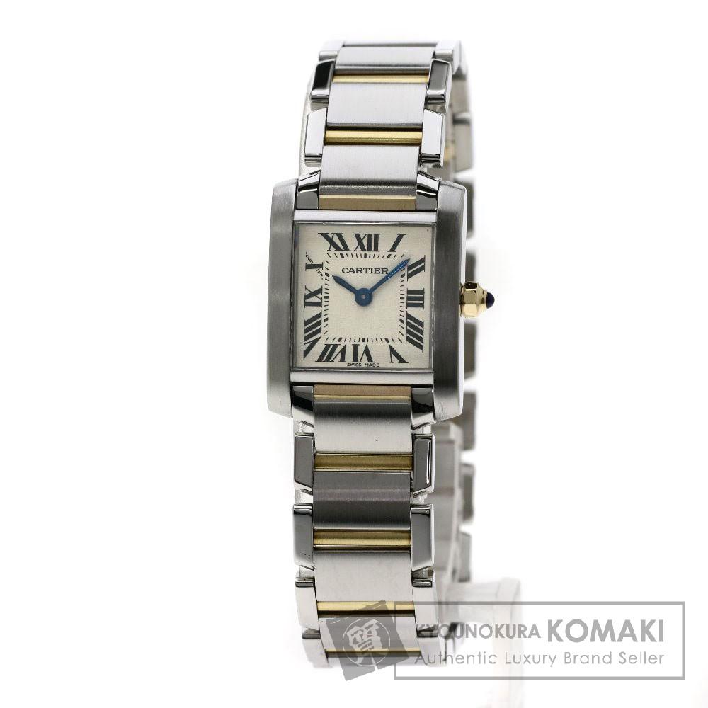 CARTIER W51007Q4 タンクフランセーズ SM 腕時計 ステンレススチール/SSxK18YG レディース 【中古】【カルティエ】