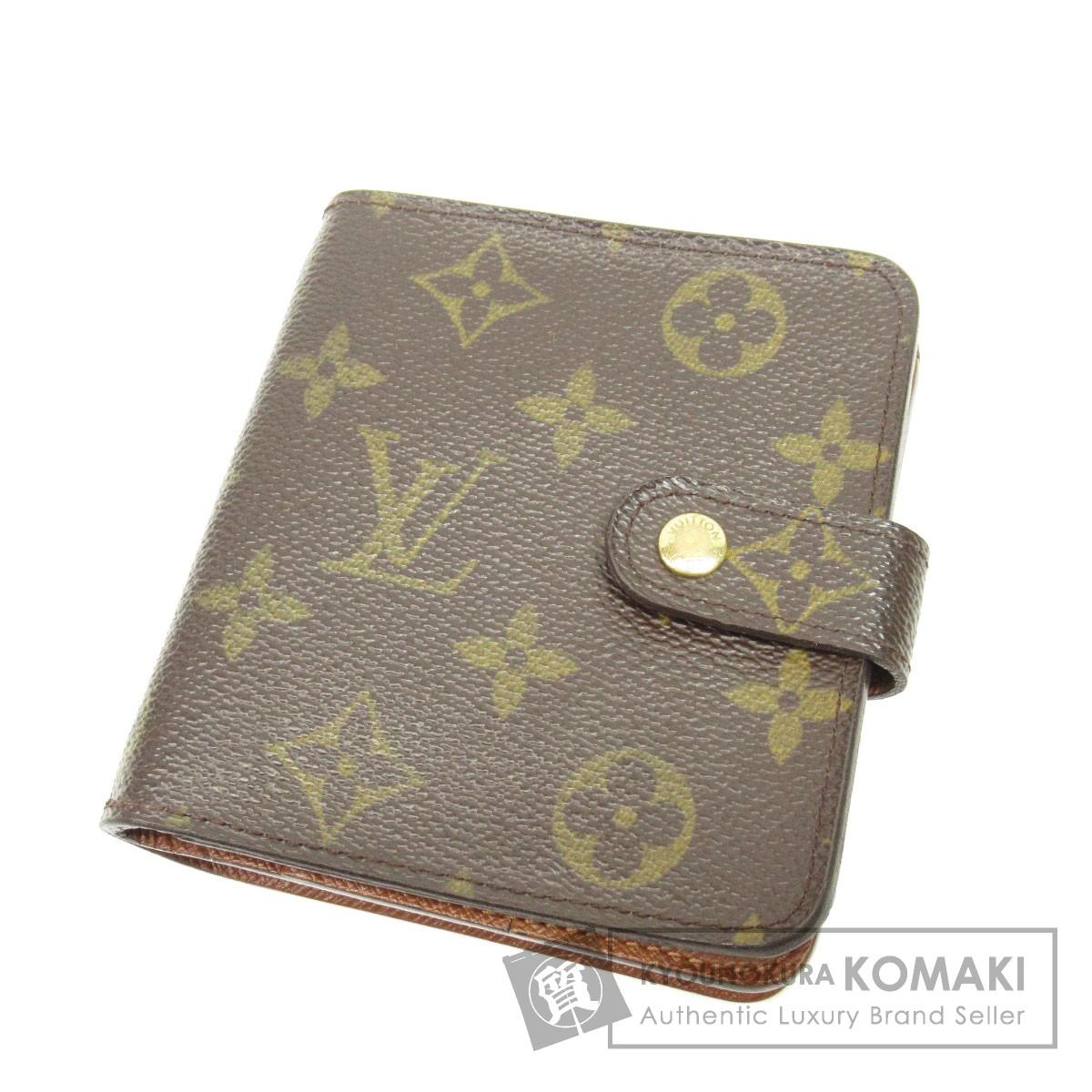 LOUIS VUITTON M61667 コンパクトジップ 二つ折り財布(小銭入れあり) モノグラムキャンバス レディース 【中古】【ルイ・ヴィトン】