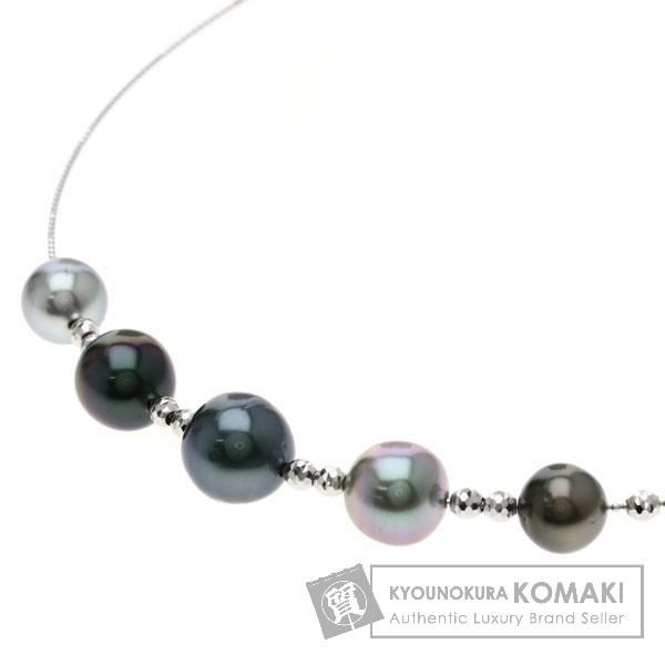 パール/真珠 ネックレス K18ホワイトゴールド 8.4g レディース 【中古】