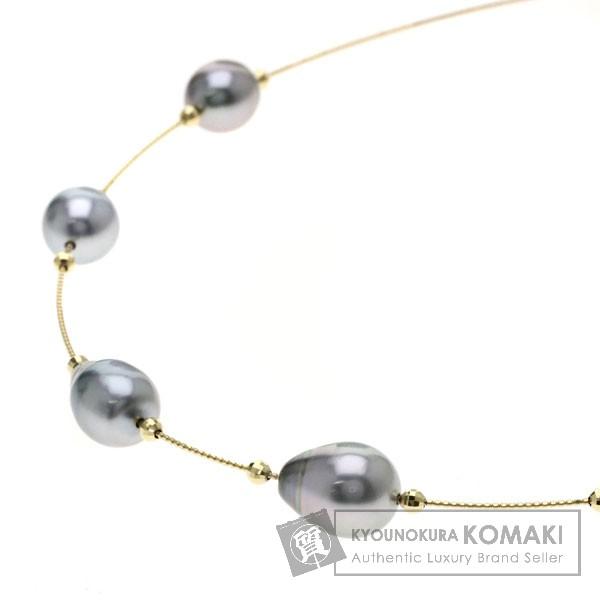 パール/真珠 ネックレス K18イエローゴールド 14.4g レディース 【中古】