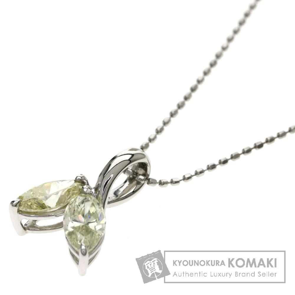 1.02ct ダイヤモンド/リーフモチーフ ネックレス プラチナPT900 2.8g レディース 【中古】