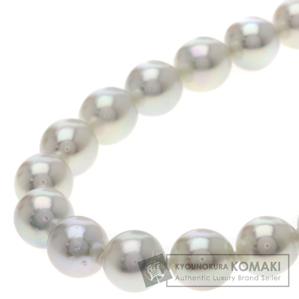 0.05ct パール/真珠/ダイヤモンド ネックレス K14ホワイトゴールド 49.7g レディース 【中古】