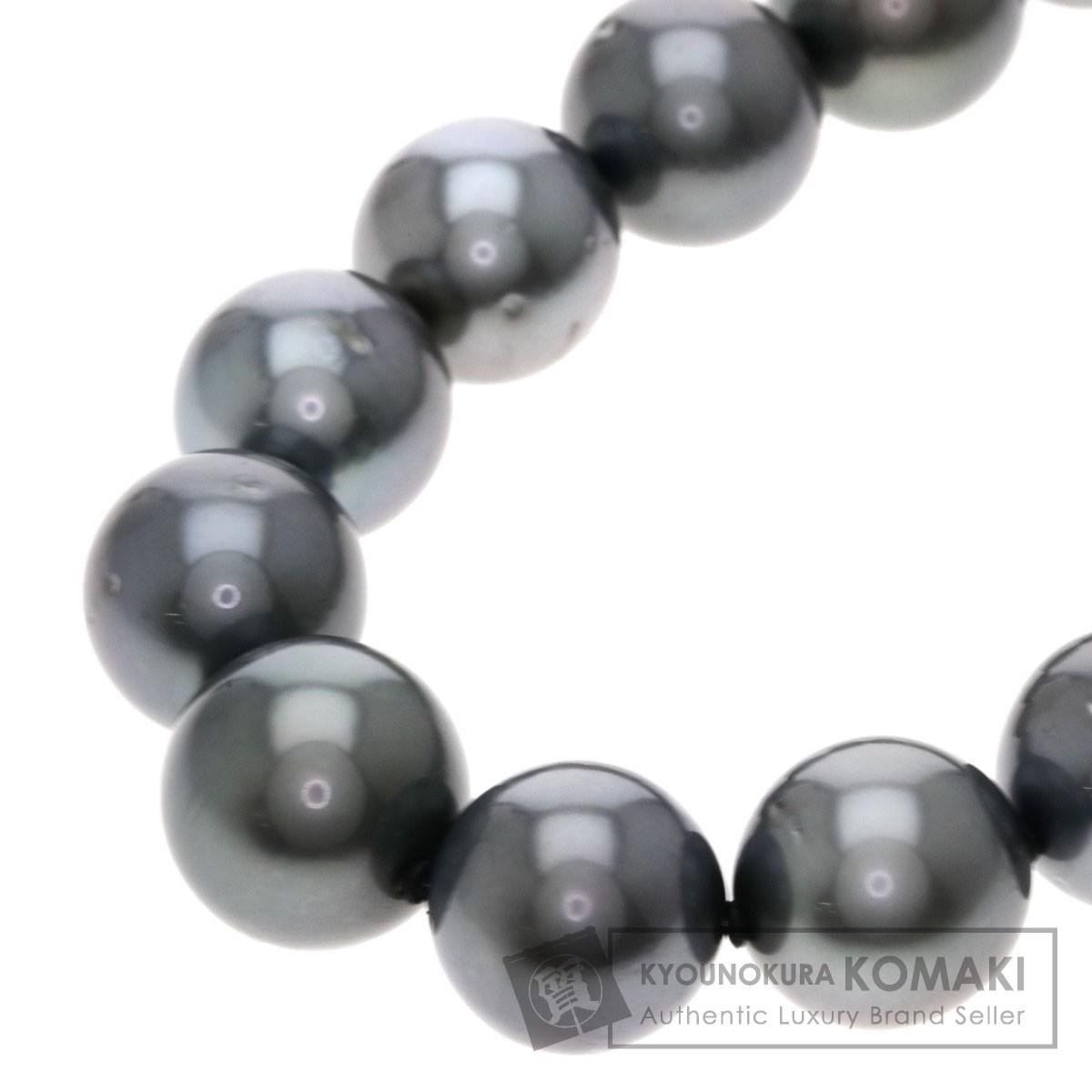 南洋ブラックパール/真珠 ネックレス シルバー 79.5g レディース 【中古】