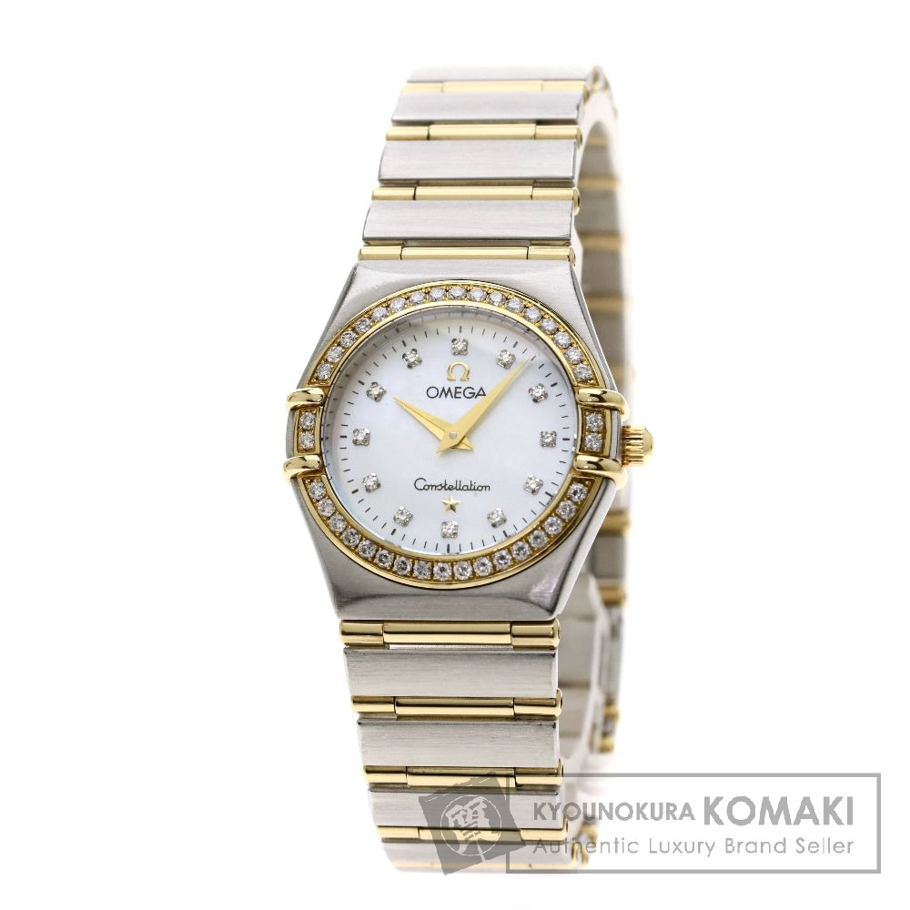OMEGA 1267.75 コンステレーション 12Pダイヤモンド 腕時計 /SS/SSxK18YG レディース 【中古】【オメガ】