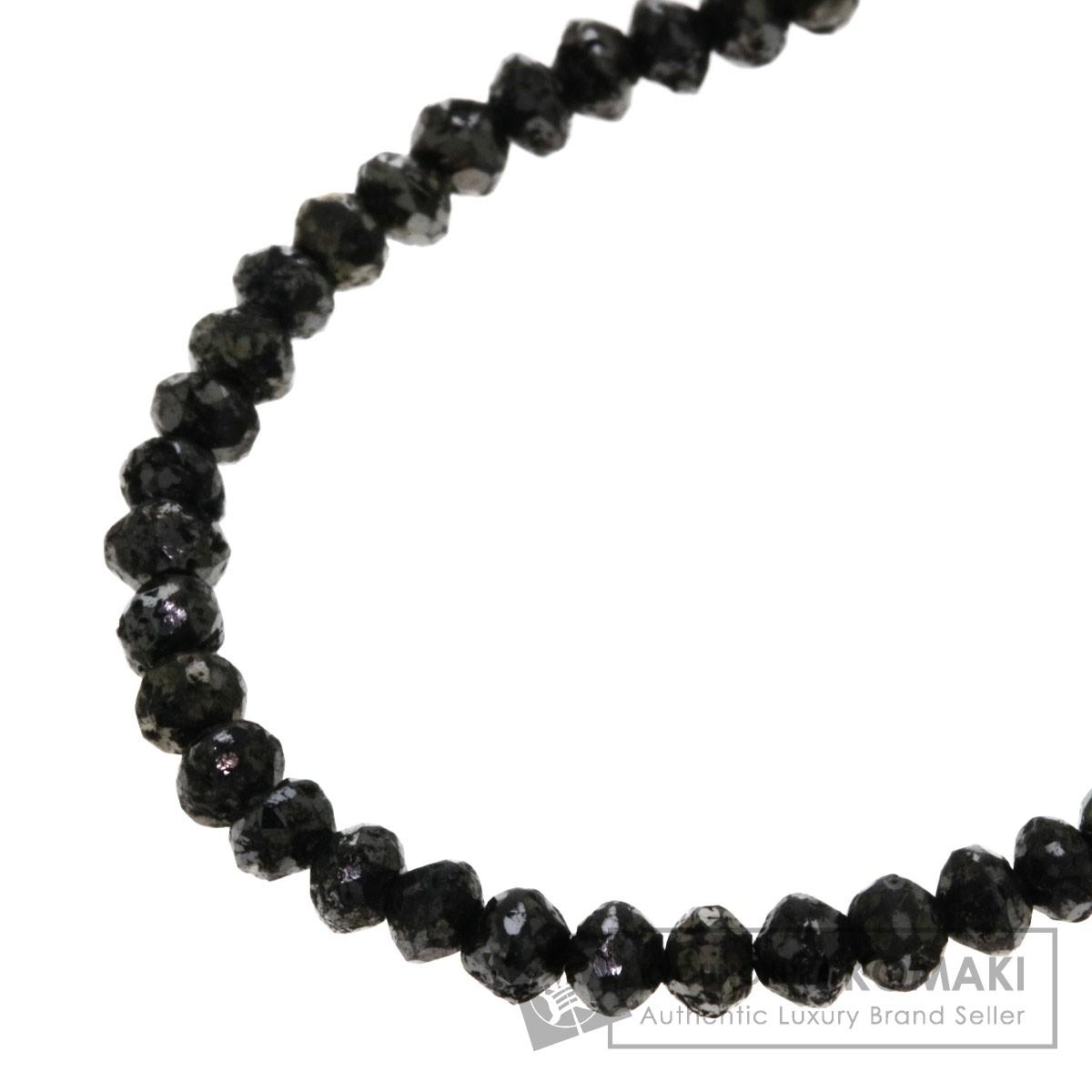 30.29ct ブラックダイヤモンド ネックレス K18ホワイトゴールド 6.9g レディース 【中古】