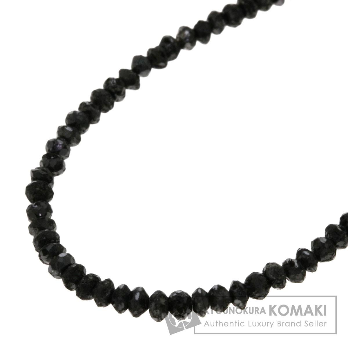 20ct ブラックダイヤモンド ネックレス K18ホワイトゴールド 5g レディース 【中古】