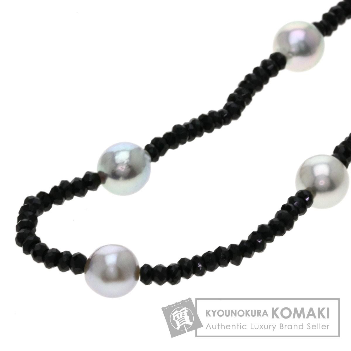 パール/真珠/スピネル/ロングネックレス ネックレス K18ホワイトゴールド 42.7g レディース 【中古】