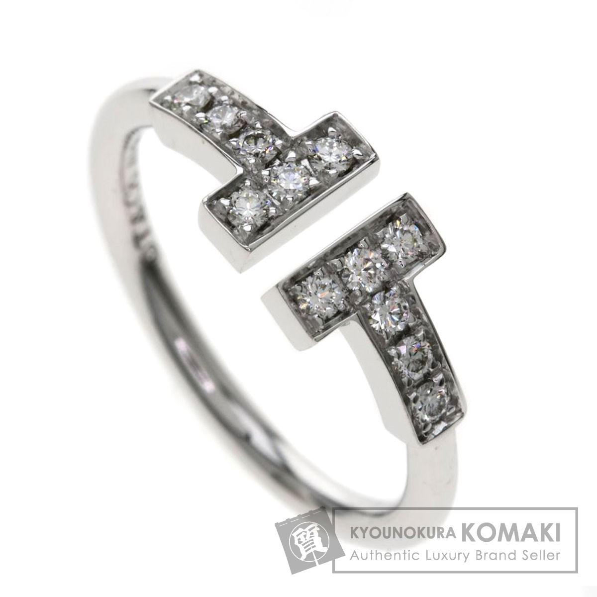 TIFFANY&Co. Tワイヤーダイヤモンド リング・指輪 K18ホワイトゴールド レディース 【中古】【ティファニー】