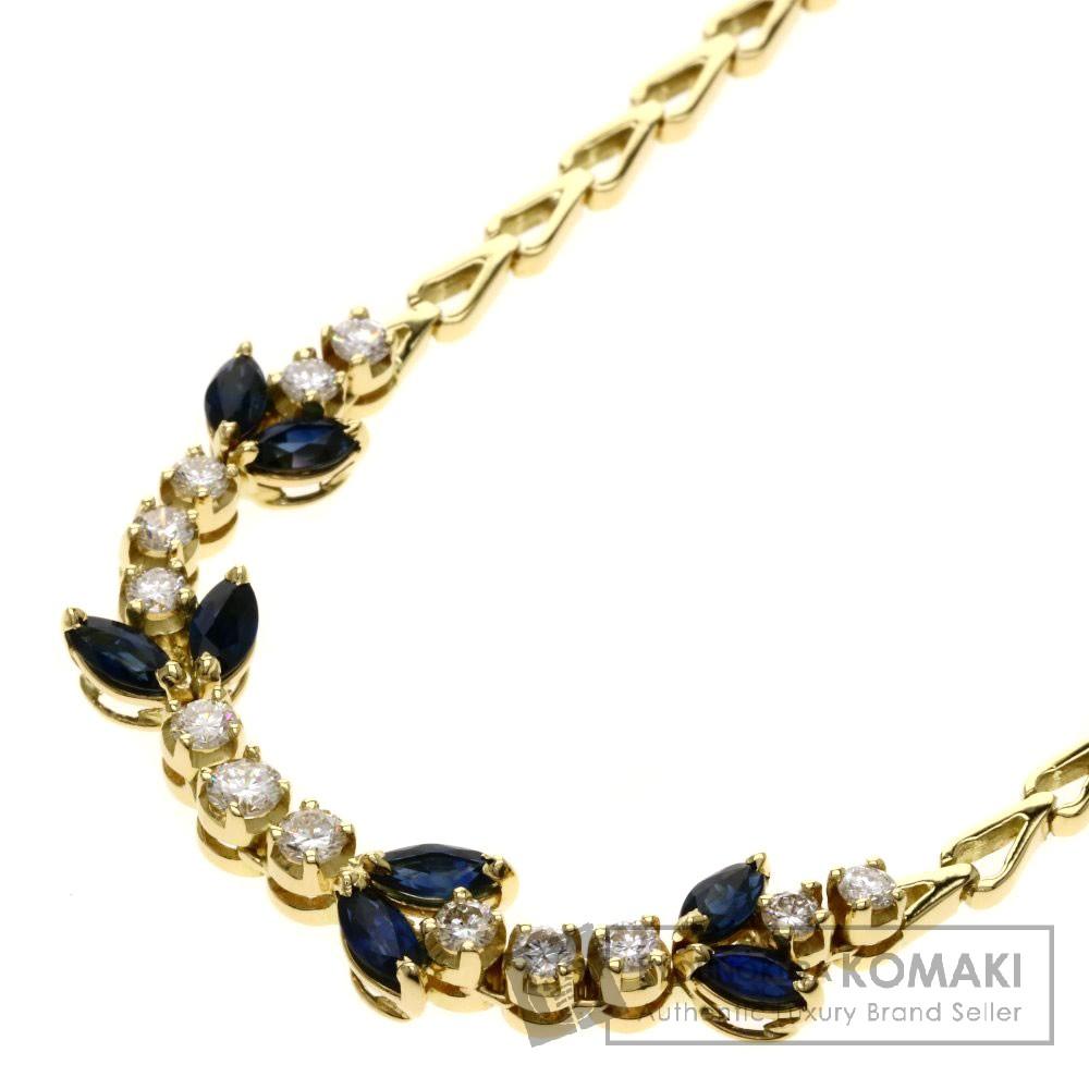 TIFFANY&Co. サファイア/ダイヤモンド ネックレス K18イエローゴールド レディース 【中古】【ティファニー】