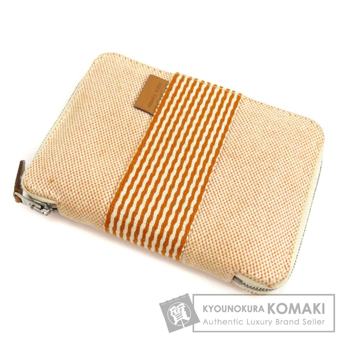 HERMES トワルアッシュ 二つ折り財布(小銭入れあり) キャンバス レディース 【中古】【エルメス】