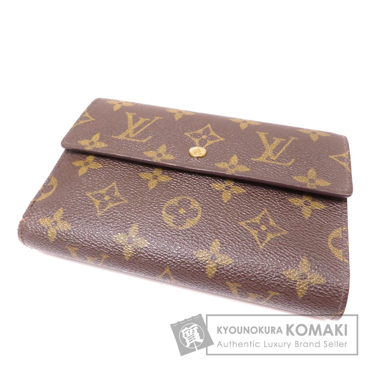 LOUIS VUITTON M61202 ポルトトレゾール エテュイパピエ 二つ折り財布(小銭入れあり) モノグラムキャンバス ユニセックス 【中古】【ルイ・ヴィトン】