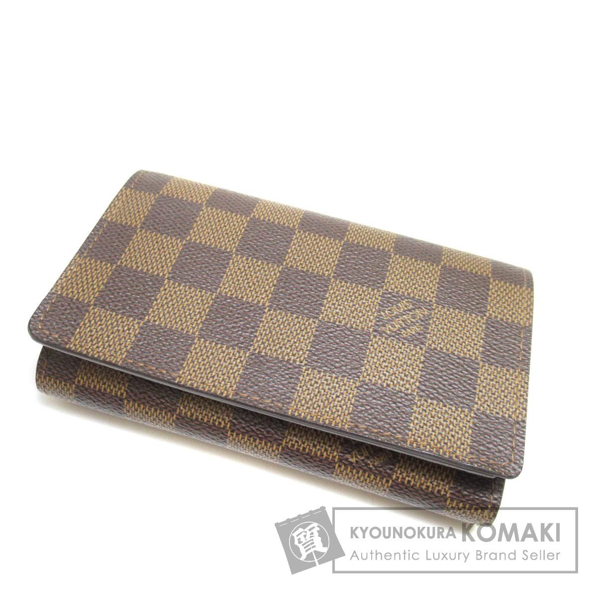 LOUIS VUITTON N61736 ポルト フォイユ トレゾール 二つ折り財布(小銭入れあり) ダミエキャンバス レディース 【中古】【ルイ・ヴィトン】