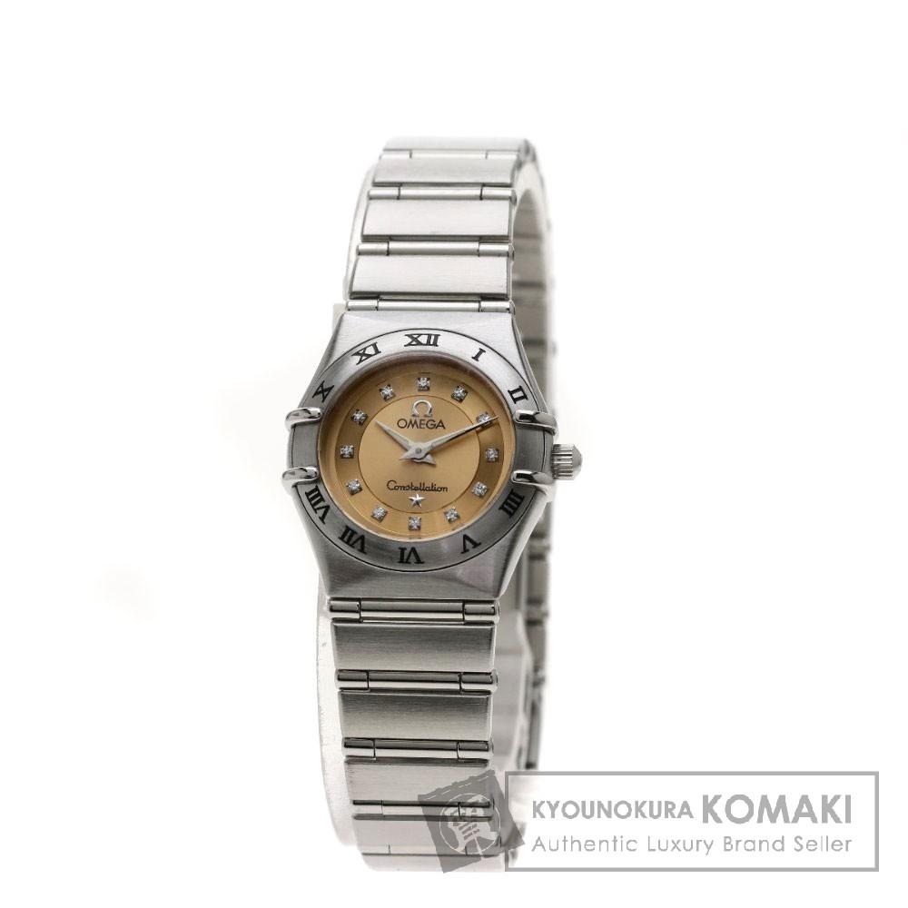 OMEGA 1564-65 コンステレーション シンディ・クロフォード 12Pダイヤモンド 限定モデル 腕時計 OH済 ステンレススチール/SS レディース 【中古】【オメガ】
