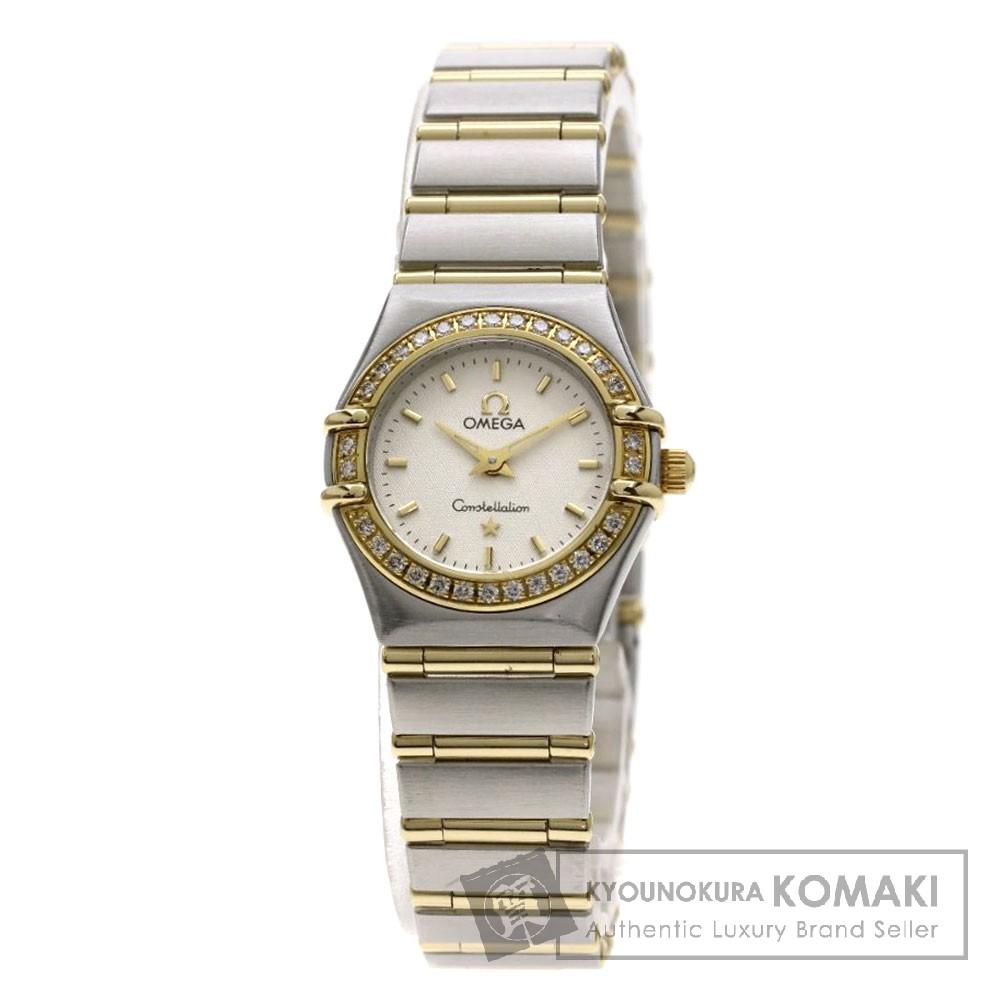 OMEGA 1267-30 コンステレーション 腕時計 OH済 ステンレススチール/SSxK18YG/ダイヤモンド レディース 【中古】【オメガ】