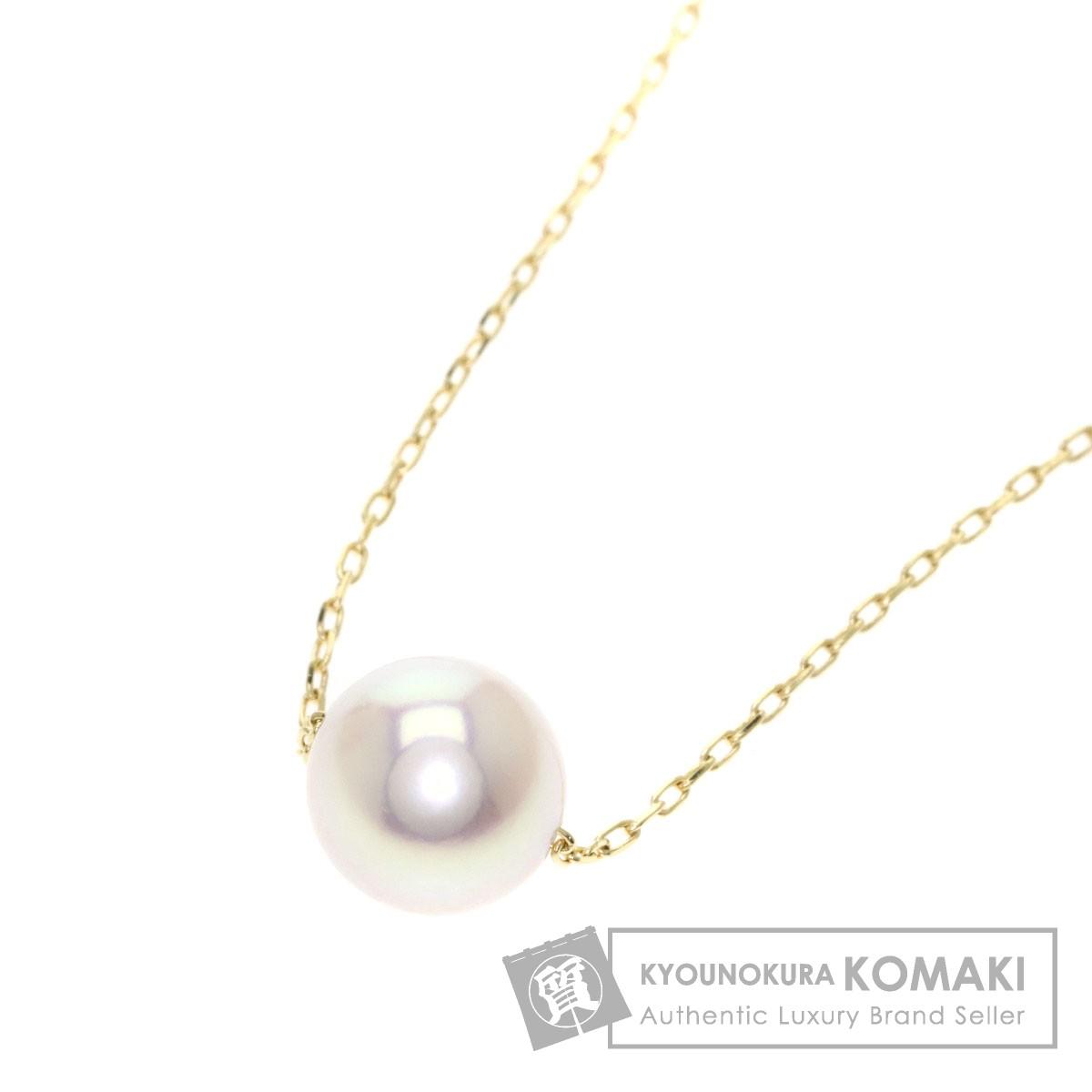パール/真珠 ネックレス K18イエローゴールド 2g レディース 【中古】