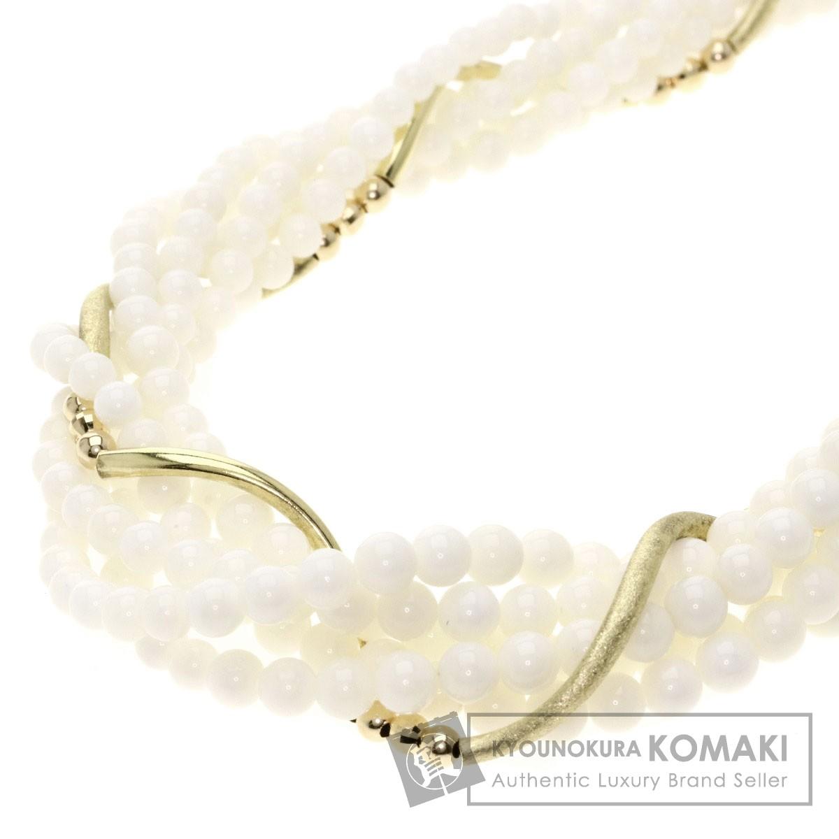 サンゴ/珊瑚 ネックレス K18イエローゴールド/K14YG 43.9g レディース 【中古】