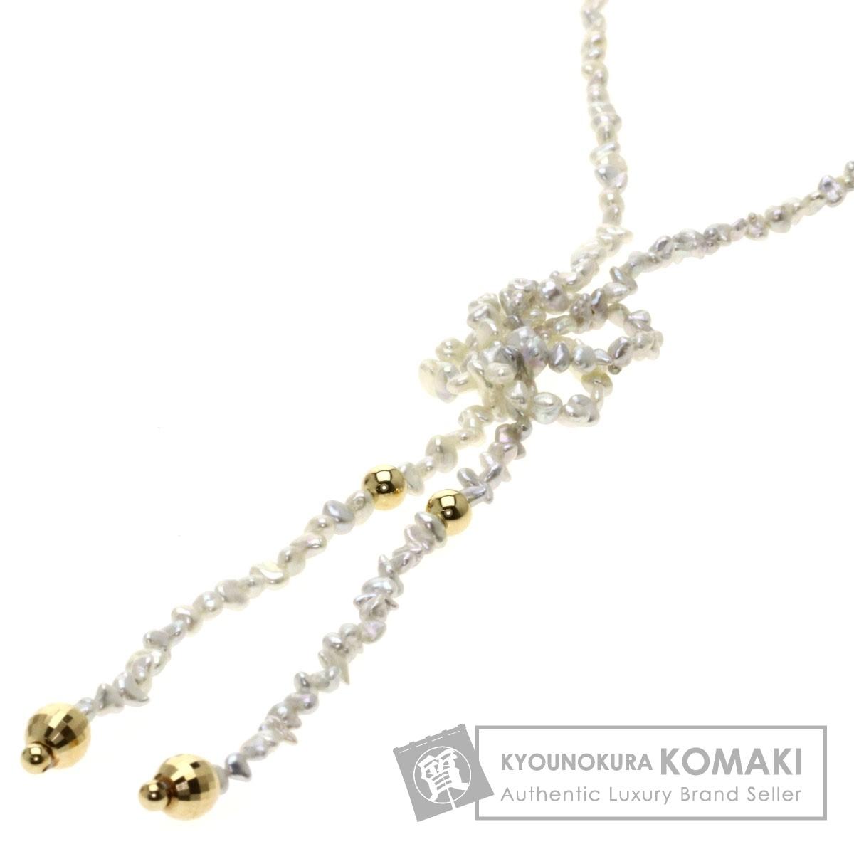 ケシパール/真珠/ロング ネックレス K18イエローゴールド 12g レディース 【中古】