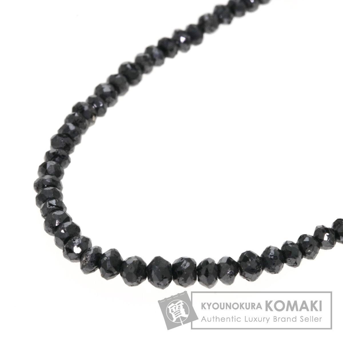 ブラックダイヤモンド ネックレス K18ホワイトゴールド 5g レディース 【中古】