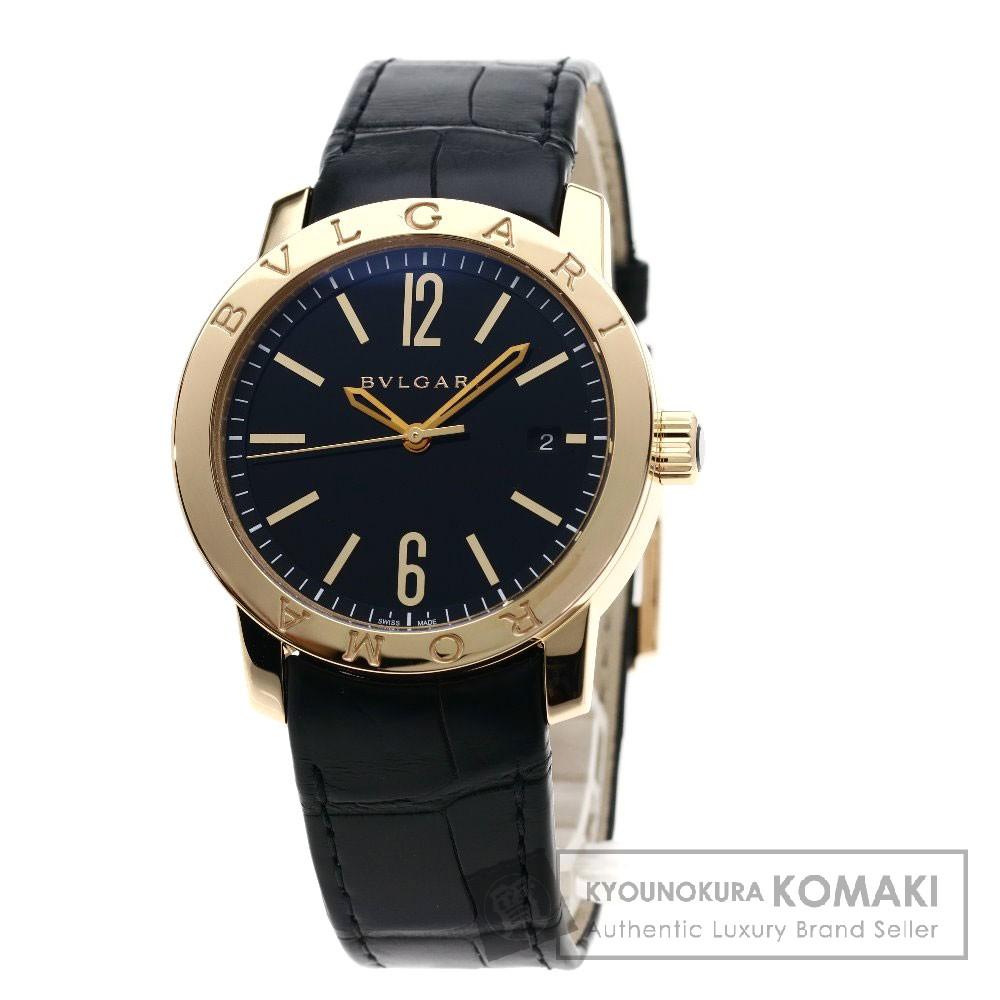 BVLGARI BBP39BGLD ブルガリブルガリ/ブルガリローマ/世界限定250本 腕時計 K18ピンクゴールド/レザー メンズ 【中古】【ブルガリ】
