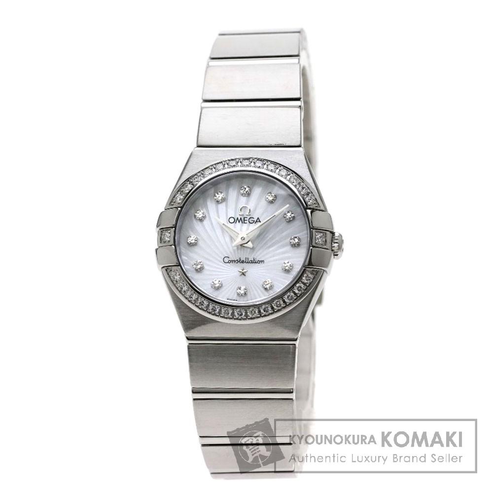 OMEGA 123.15.24.60.55.002 コンステレーション ブラッシュ 腕時計 ステンレススチール/ダイヤモンド レディース 【中古】【オメガ】