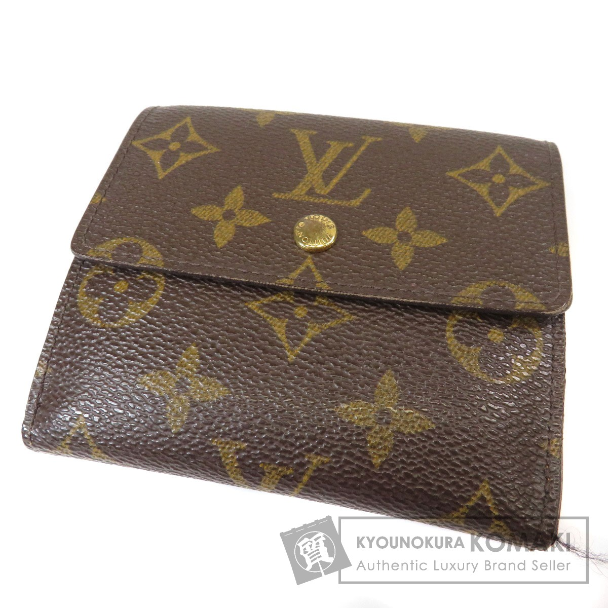 LOUIS VUITTON M61652 ポルトフォイユエリーズ Wホック 二つ折り財布(小銭入れあり) モノグラムキャンバス レディース 【中古】【ルイ・ヴィトン】