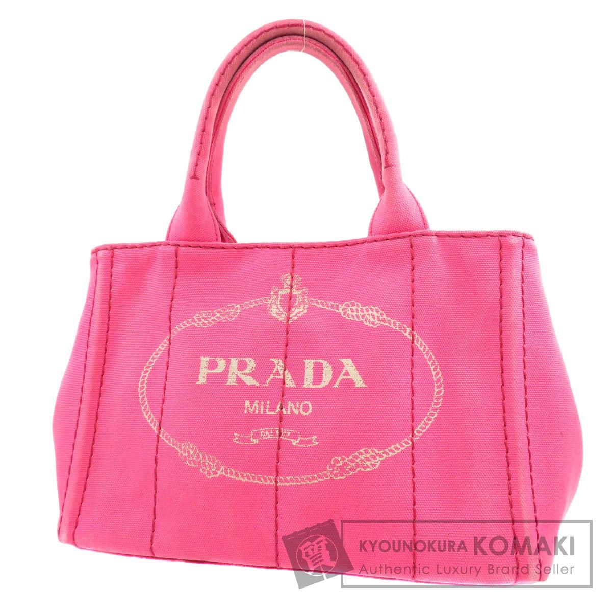 PRADA カナパミニ 2WAY ハンドバッグ キャンバス レディース 【中古】【プラダ】