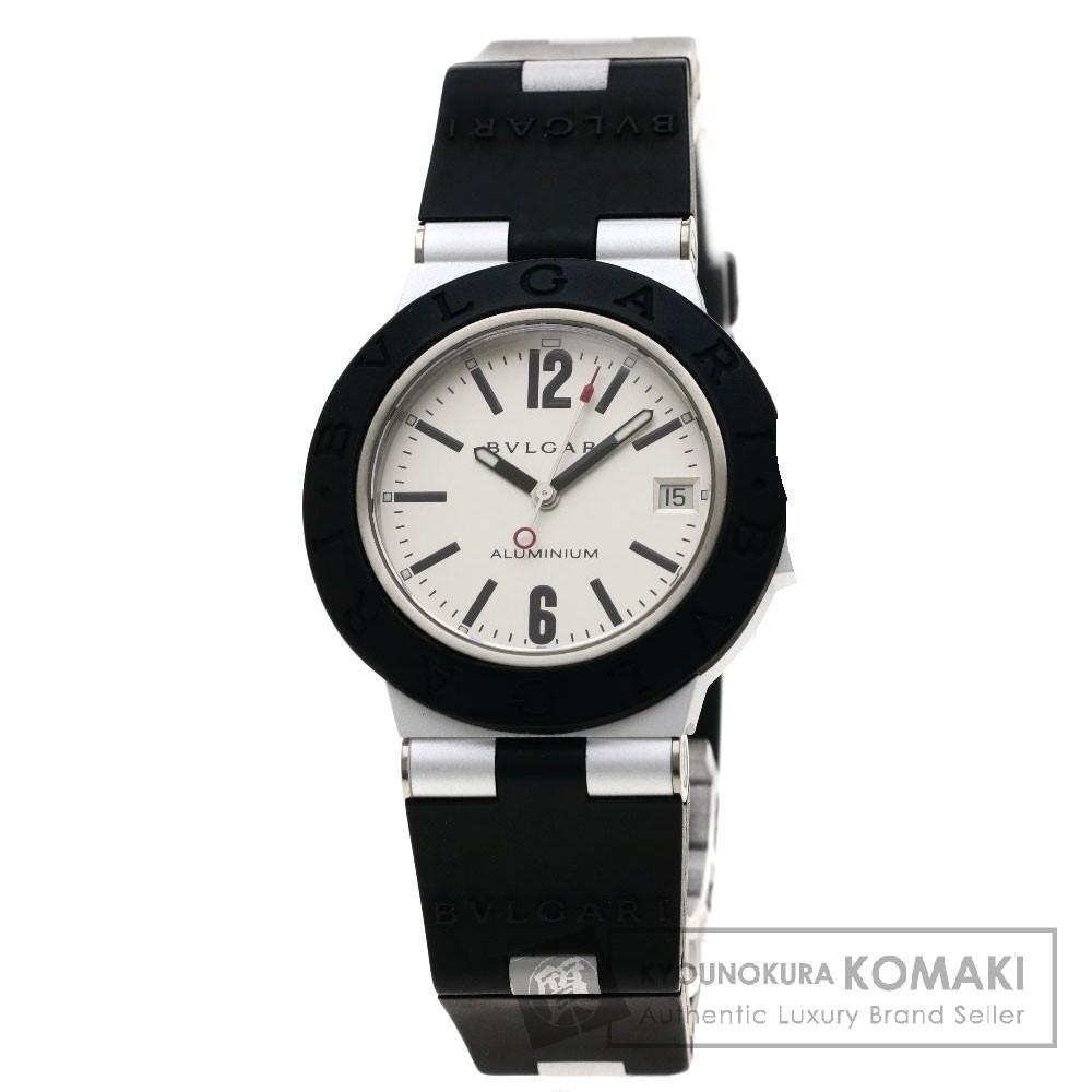 BVLGARI AL38TAVD アルミニウム/ディアゴノ 腕時計 OH済 アルミニウム/ラバー メンズ 【中古】【ブルガリ】