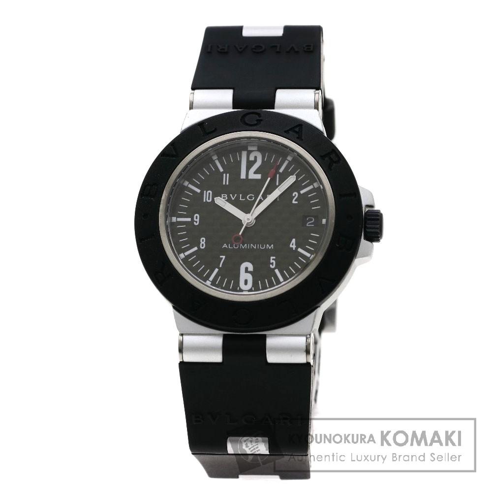 BVLGARI AL38BTAVD アルミニウム/ディアゴノ/カーボン 腕時計 OH済 アルミニウム/ラバー メンズ 【中古】【ブルガリ】