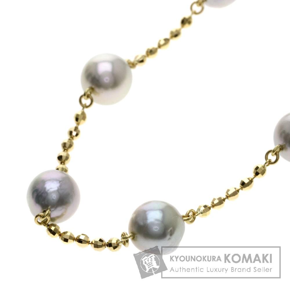 パール/真珠 ネックレス K18イエローゴールド 20.9g レディース 【中古】
