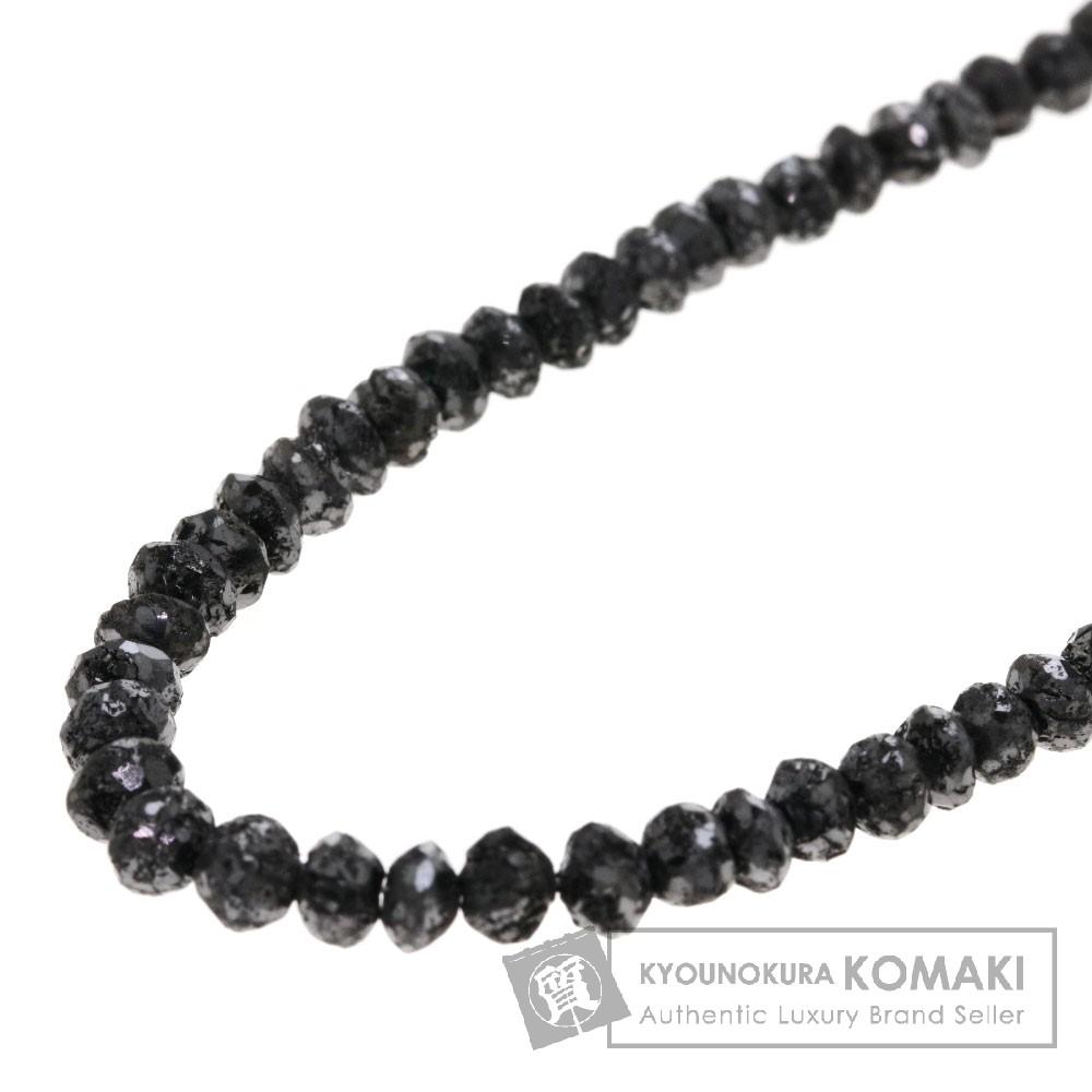 30ct ブラックダイヤモンド ネックレス K18ホワイトゴールド 6.8g レディース 【中古】