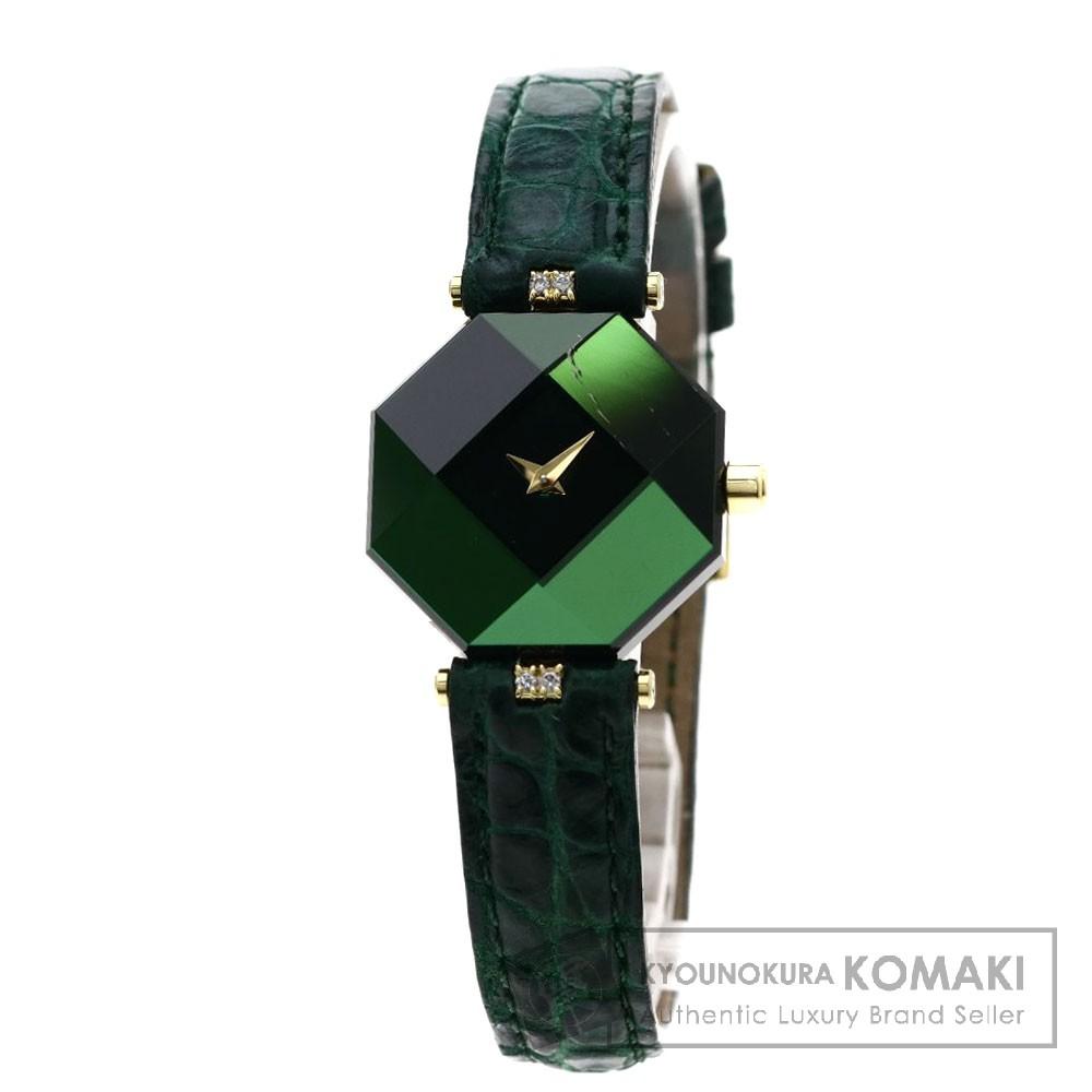 CENTURY エンパイア アタッチメントダイヤモンド 腕時計 K18イエローゴールド/革 レディース 【中古】【センチュリー】