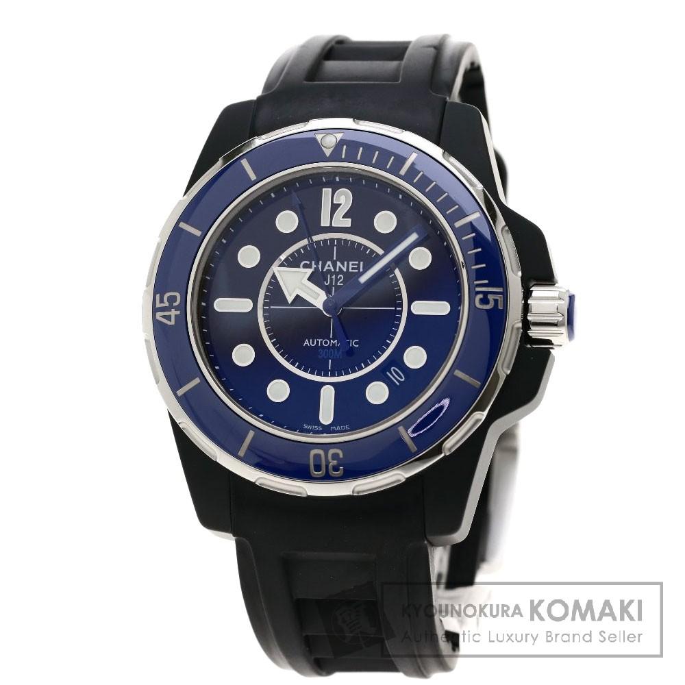CHANEL H2559 J12 マリーン 42 腕時計 OH済 セラミック/ラバー メンズ 【中古】【シャネル】