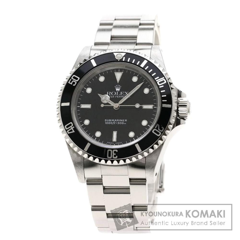 ROLEX 14060 サブマリーナ ノンデイト 腕時計 OH済 ステンレススチール/SS メンズ 【中古】【ロレックス】