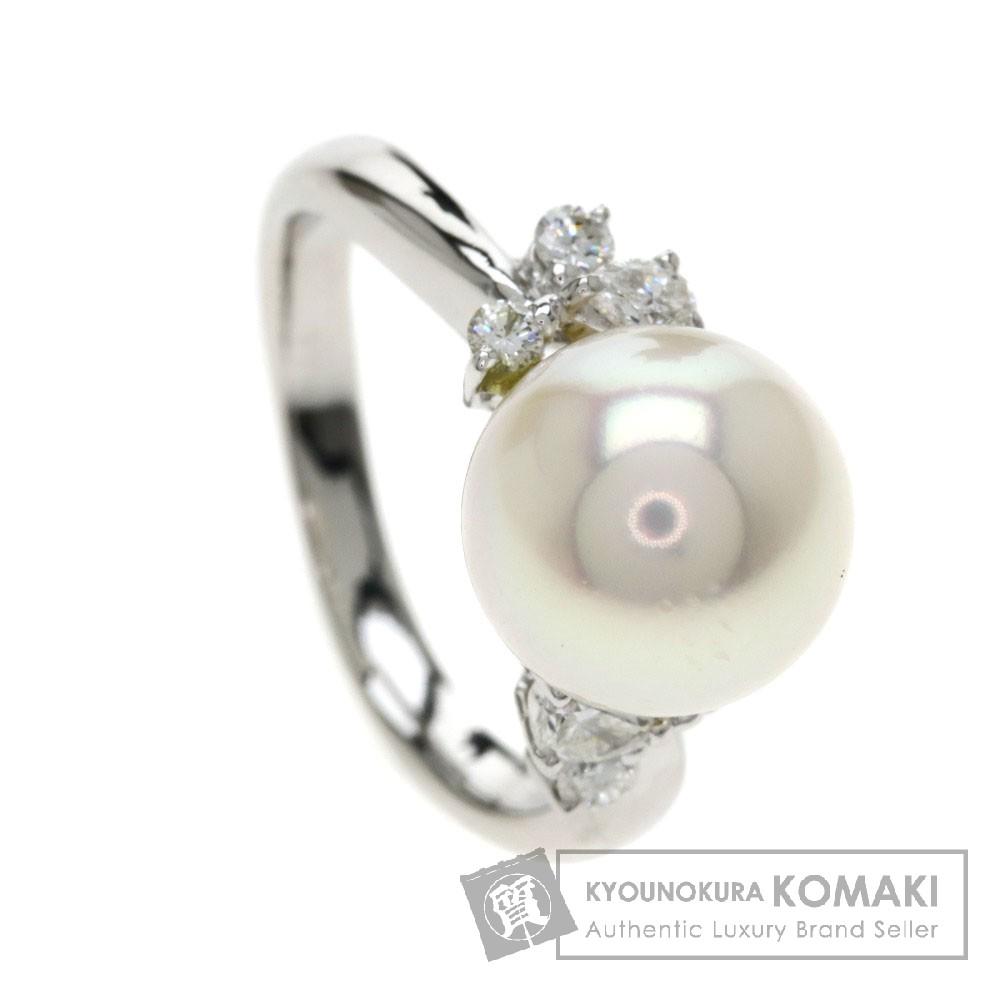 0.23ct パール/真珠/ダイヤモンド リング・指輪 プラチナPT900 4.9g レディース 【中古】
