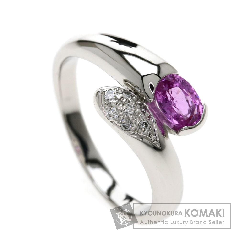 0.606ct ピンクサファイア/ダイヤモンド リング・指輪 プラチナPT900 6.9g レディース 【中古】