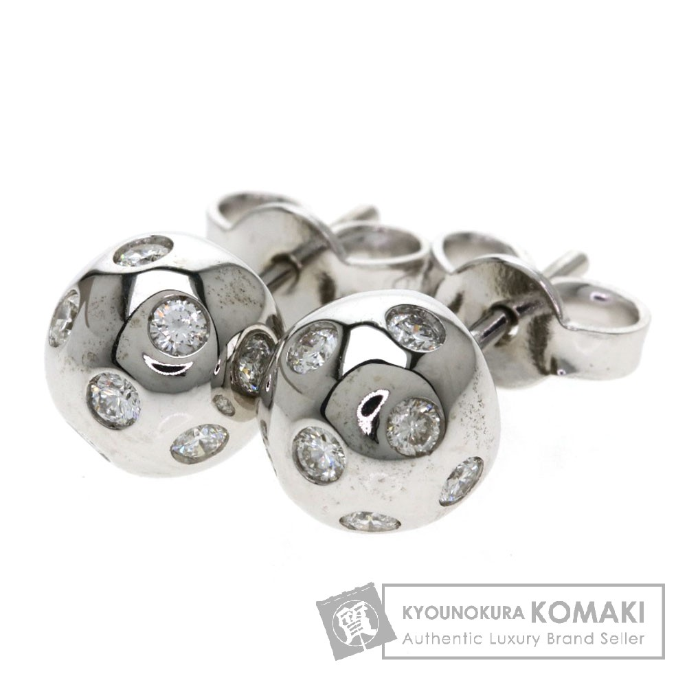 0.24ct ダイヤモンド ピアス K18ホワイトゴールド 4.8g レディース 【中古】