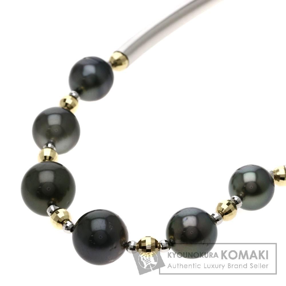 パール/真珠 ネックレス K18ホワイトゴールド/K18YG 37.7g レディース 【中古】