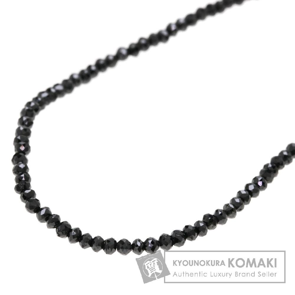 ブラックダイヤモンド ネックレス K18ホワイトゴールド 3.5g レディース 【中古】