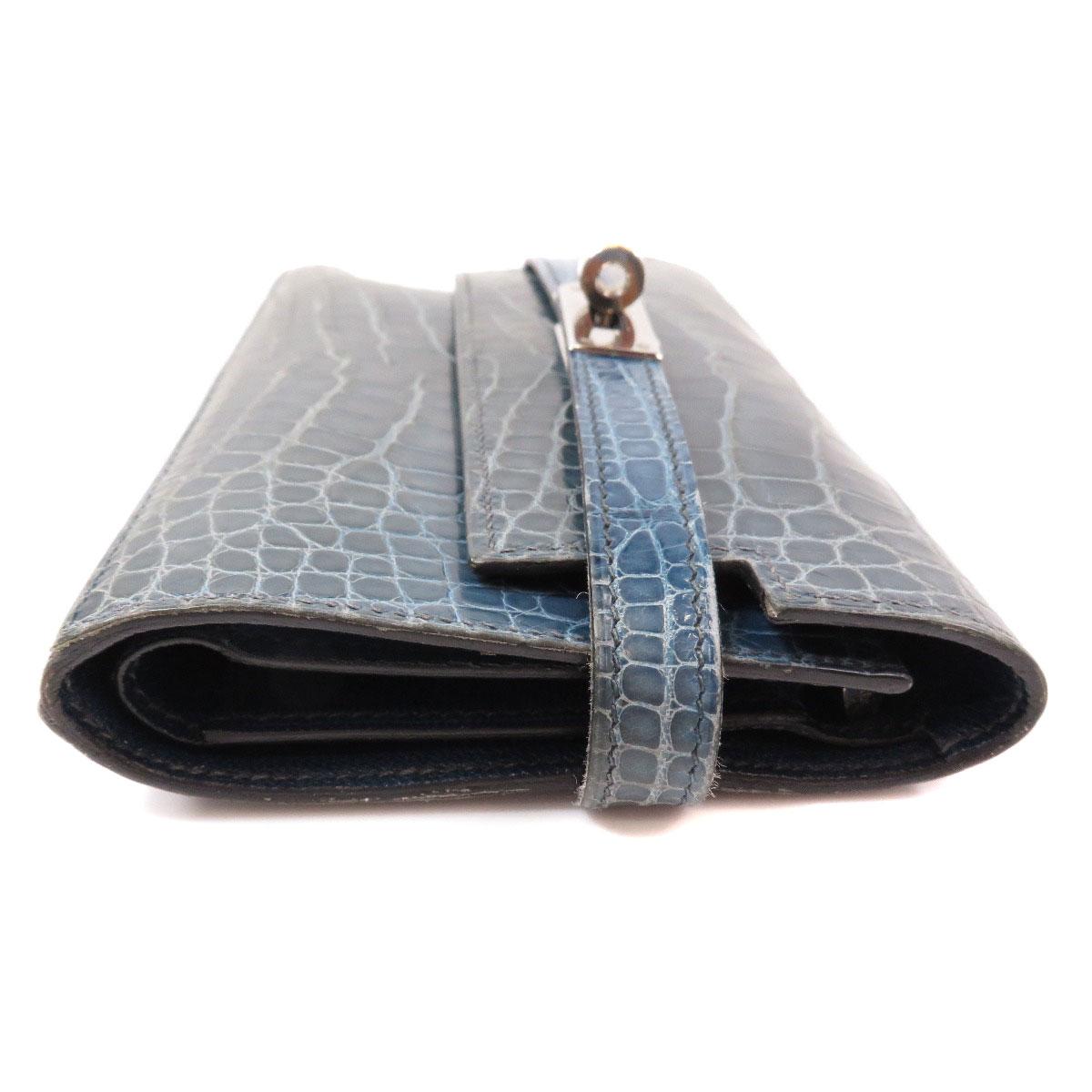 000886fe232d ... HERMES ケリーウォレット 二つ折り財布(小銭入れあり) クロコダイル レディース ...