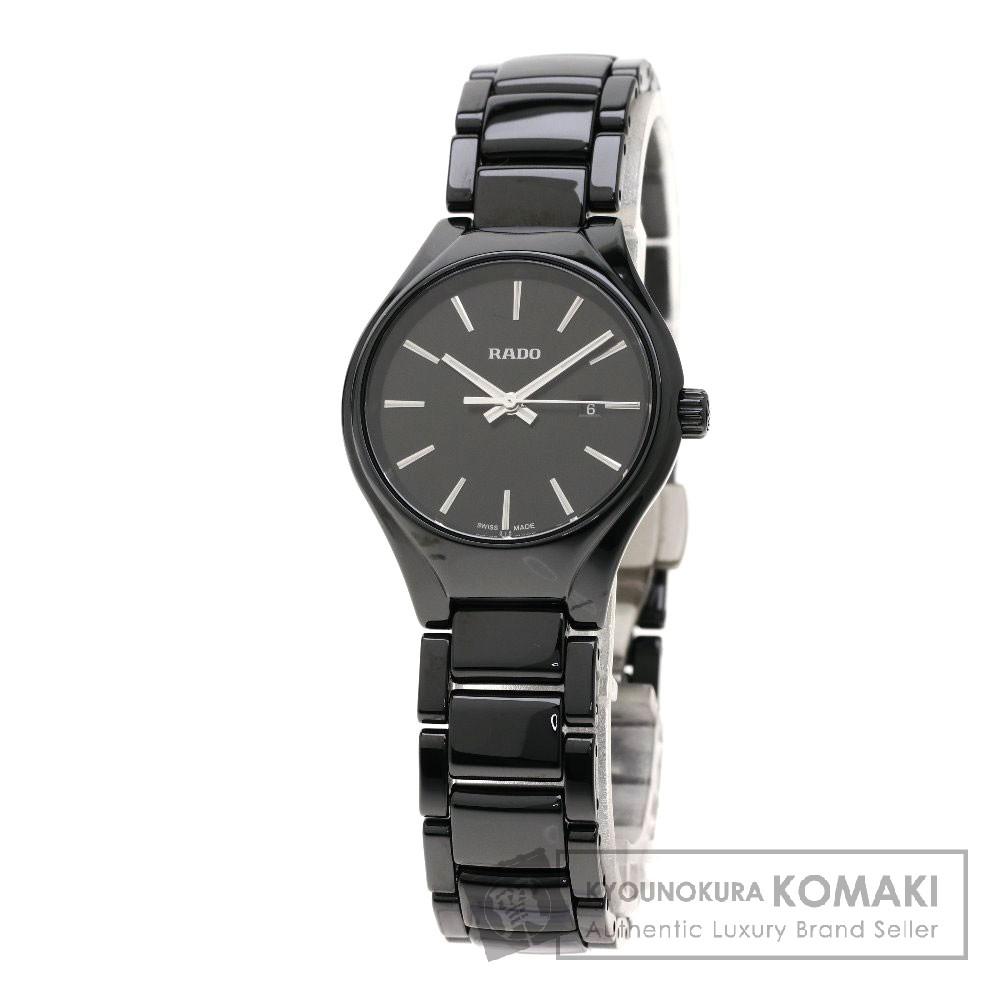 RADO R27059152 トゥルー 腕時計 セラミック/セレミック レディース 【中古】【ラドー】
