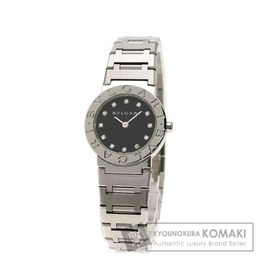 BVLGARI BB26SSD ブルガリブルガリ12Pダイヤモンド 腕時計 ステンレススチール レディース 【中古】【ブルガリ】