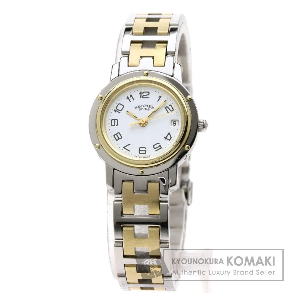 HERMES CL4.220 クリッパー 腕時計 ステンレススチール/コンビ レディース 【中古】【エルメス】